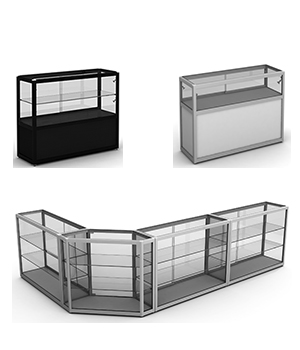 Glass Counter Display